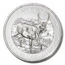 Canada Pronghorn Silver $5  Coin 2013 1oz .9999 fine UNC  Ltd Ed