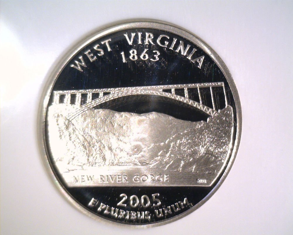 2005 S Silver Proof West Virginia State Quarter NGC PF70 UltraCameo Free US Ship