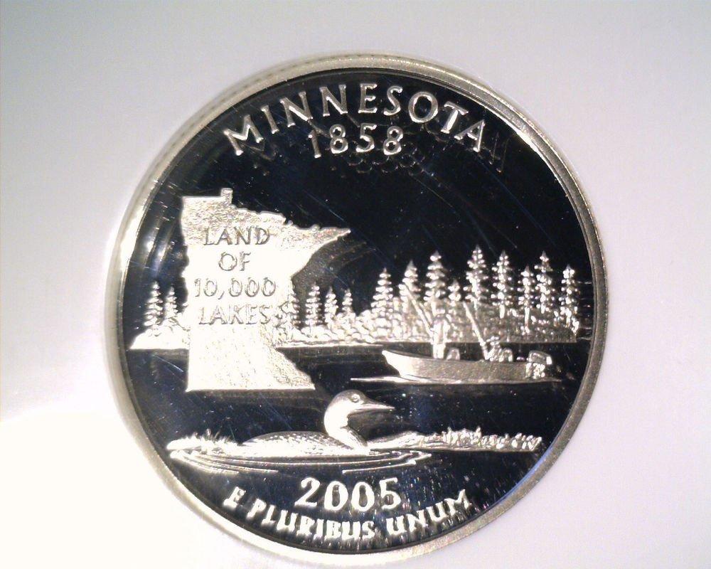 2005 S Silver Proof Minnesota State Quarter NGC PF70 Ultra Cameo Free US Ship