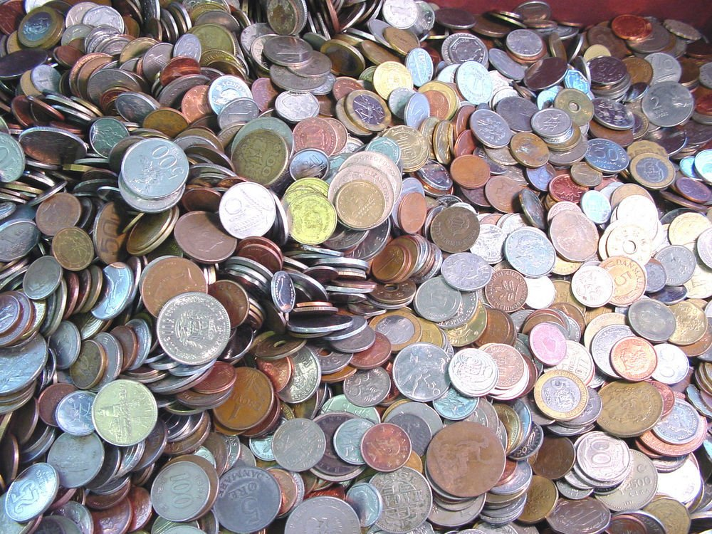 * BULK WORLD COINS *UNSEARCHED 10 pound bag 900-1100 coins *Explore The World !