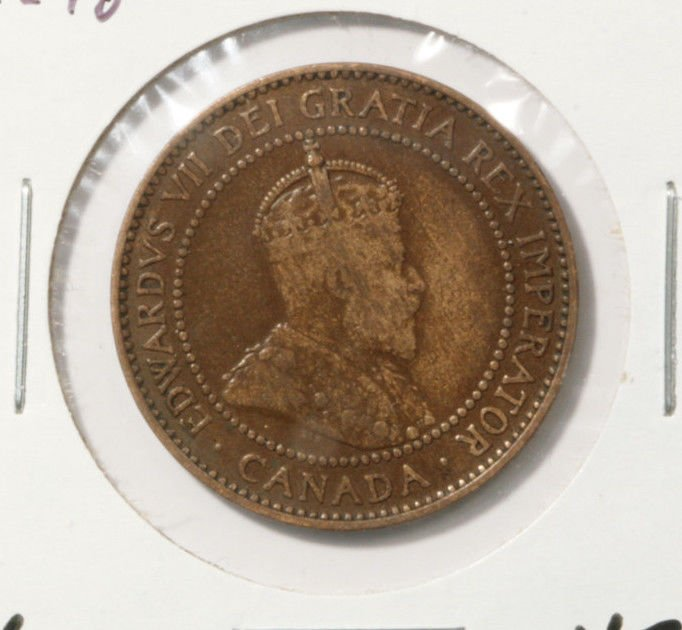 1909 Canada One Cent Coin KM#8  Very Fine Condition