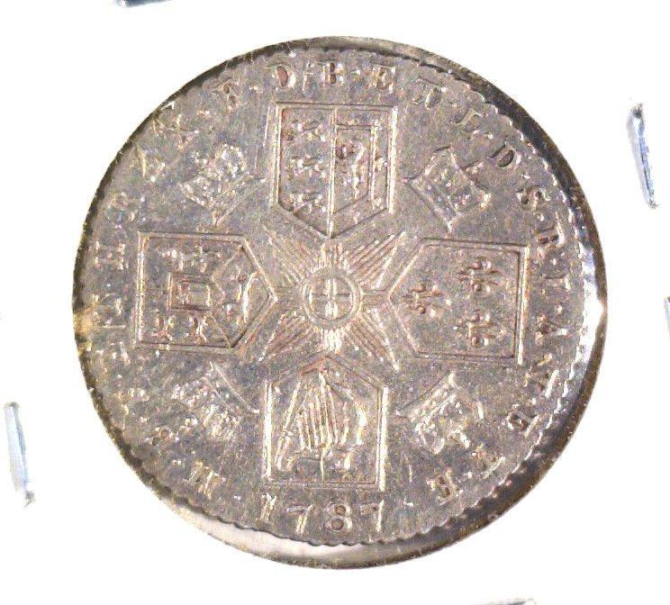 1787 Great Britain Silver Sixpence Coin AU KM#606.2 Geo. III   .0895 ASW