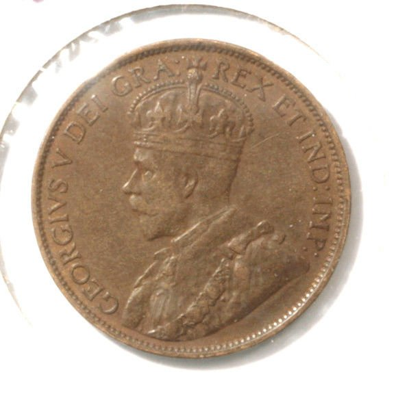 1913 Canada One Cent Coin KM#21   XF