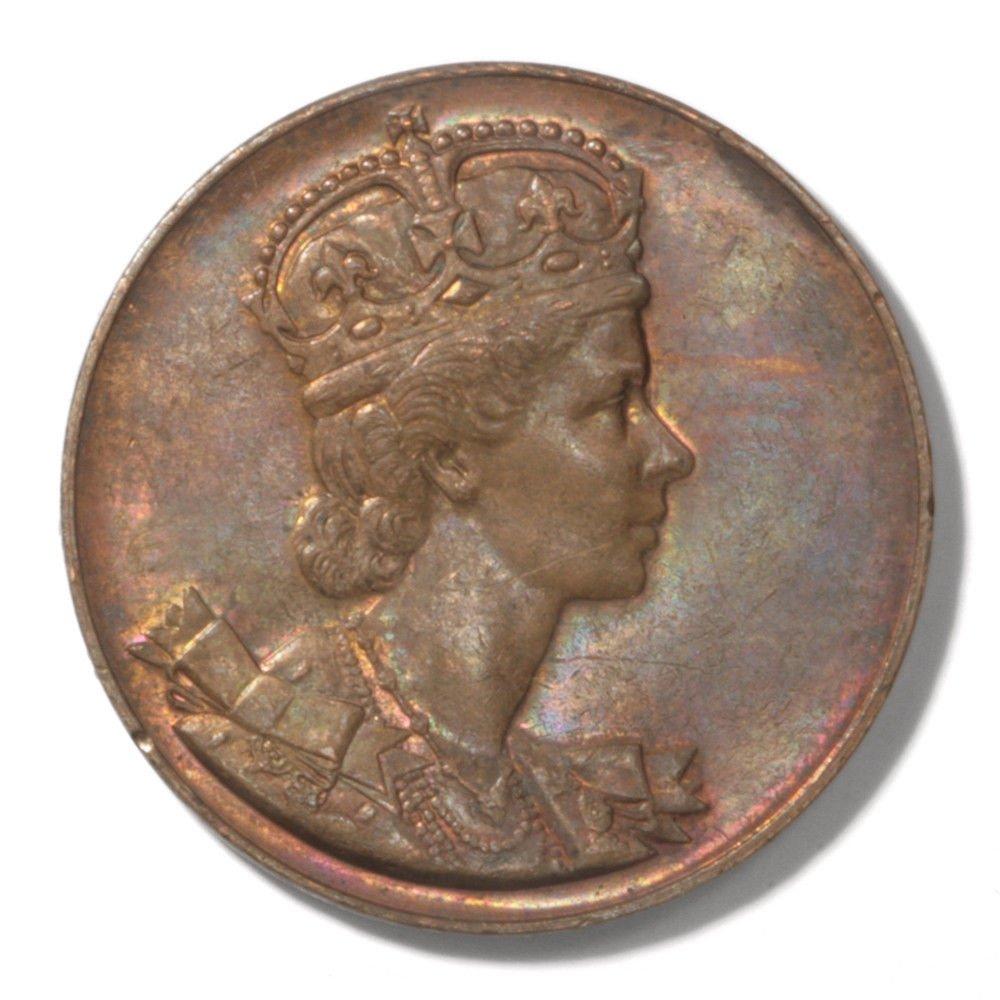 1953 Canada Elizabeth II Coronation Medal Toning AU