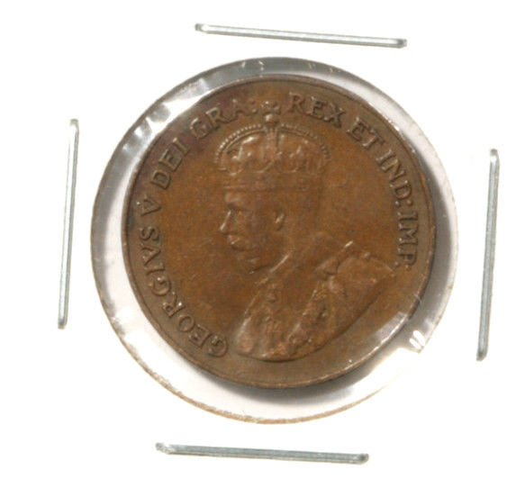 1921 Canada One Cent Coin KM#28 Very Fine Condition    x
