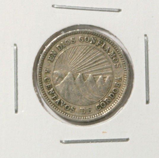 1954 Nicaragua 5 centavos coin KM#24.1
