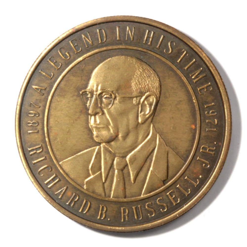 1971 State Of Georgia - Richard B. Russell Jr -  AU Commemorative Bronze Medal