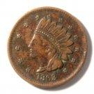 1863 Civil War Token 1¢ Indian Bust NOT ONE CENT Fuld 62/367  R3