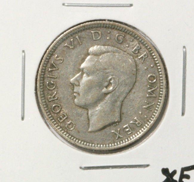 1940 Great Britain Silver Shilling Coin  Extra Fine KM#854  .0909 ASW