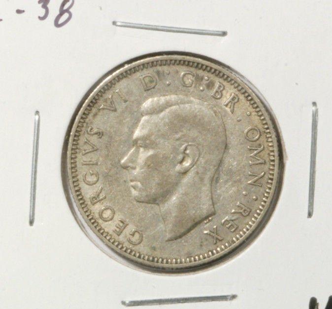 1940 Great Britain Silver Shilling Coin  Very Fine KM#854  .0909 ASW    x