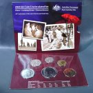 2005 Australia 6 coin Uncirculated Set BU in Original Packaging with COA