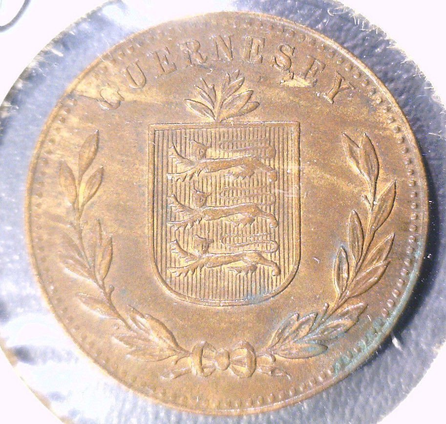 1920 Guernesey 8 Doubles Coin KM#14   Guernsey