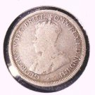 1917 M Australia Silver Sixpence Coin KM#25   .0839 ASW