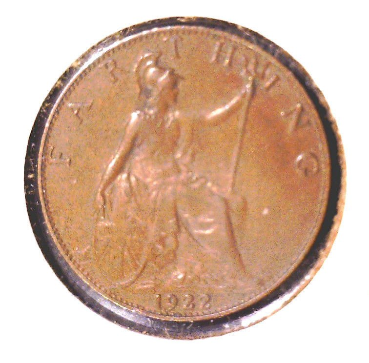 Great Britain 1922 Farthing Coin KM#808.2 UNCIRCULATED !