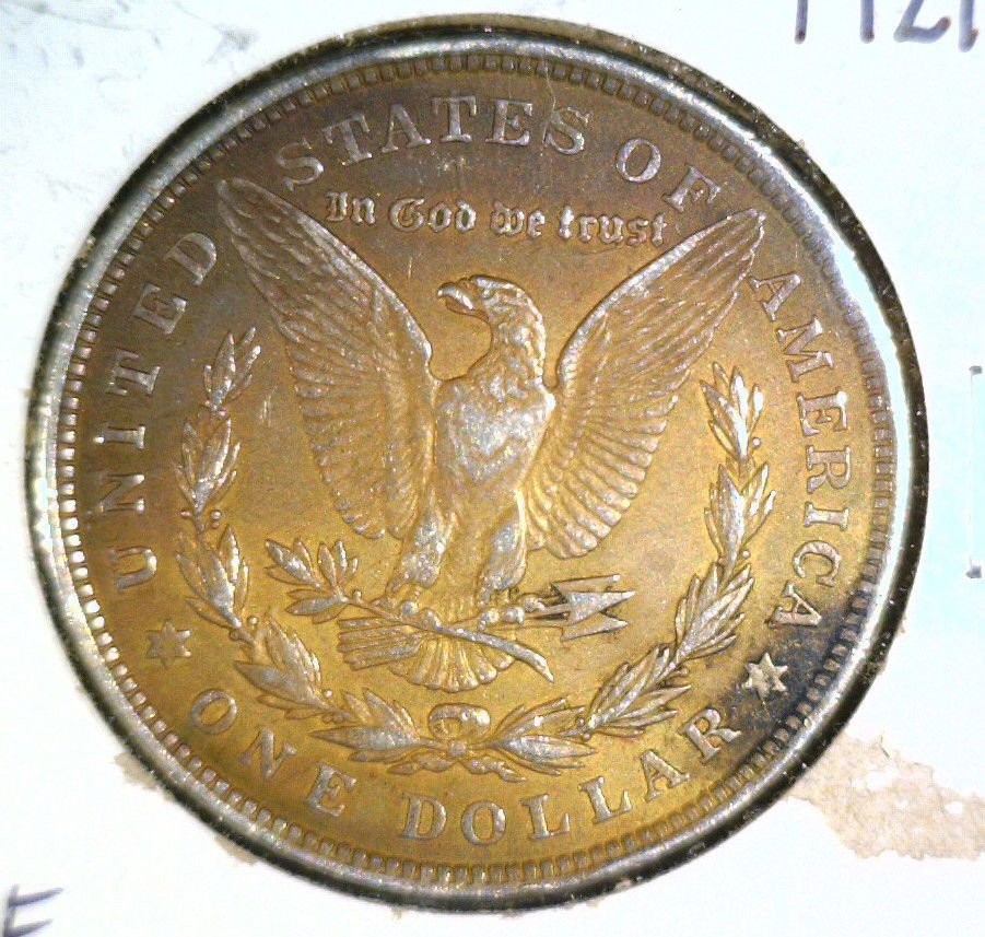 1921  Morgan Silver Dollar   Very Fine VF  Below Wholesale ! Interesting Color