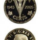 2005 Canada 60th Anniversary VE Day Commemorative Coin & Medallion Set OGP & COA