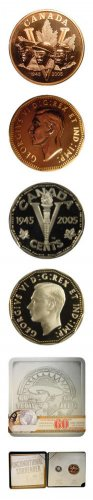 2005 Canada 60th Anniversary VE Day Commemorative Coin & Medallion Set OGP & COA