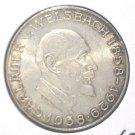 Austria 1958 Silver 25 Schilling Coin  BU .3344 ASW  KM#2884  Chemist Welsbach