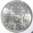Austria 1960 Silver 25 Schilling Coin BU .3344 ASW KM#2890 Carinthian Plebescite