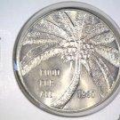 1980 Western Samoa One Tala Coin KM#38  BU FAO Issue Coconut Palm Tree