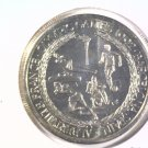 1992 Turks & Caicos 5 Crowns Prooflike coin KM#68 Olympics Albertville Barcelona