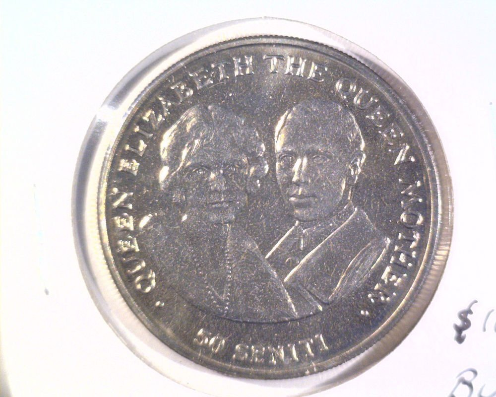 1985 Tonga 50 Senti BU Coin KM#105  The Queen Mother