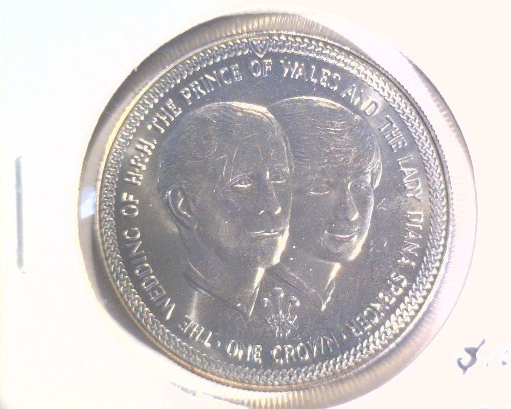 1981 Isle of Man BU Crown Coin KM#82 Royal Wedding of Chuck and Di