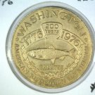 1976 Washington State Bicentennial Medal Gray's Harbor Coin Club  Salmon Fish
