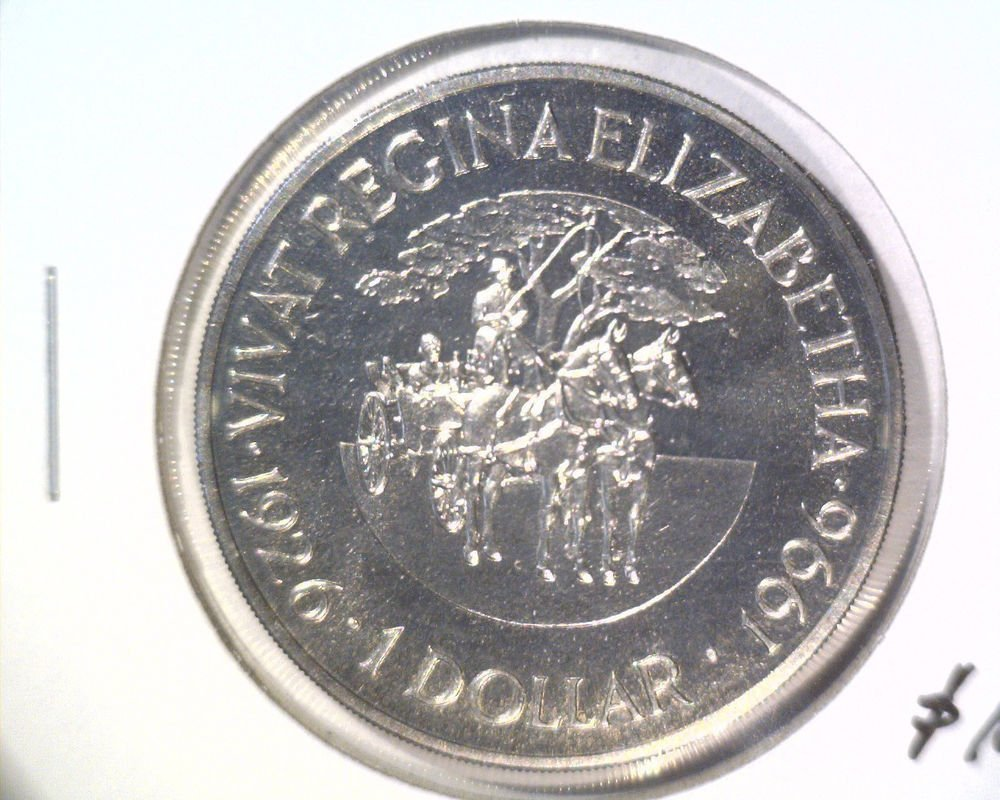 1996 Bermuda One Dollar Coin BU KM#94  Horse and Carriage