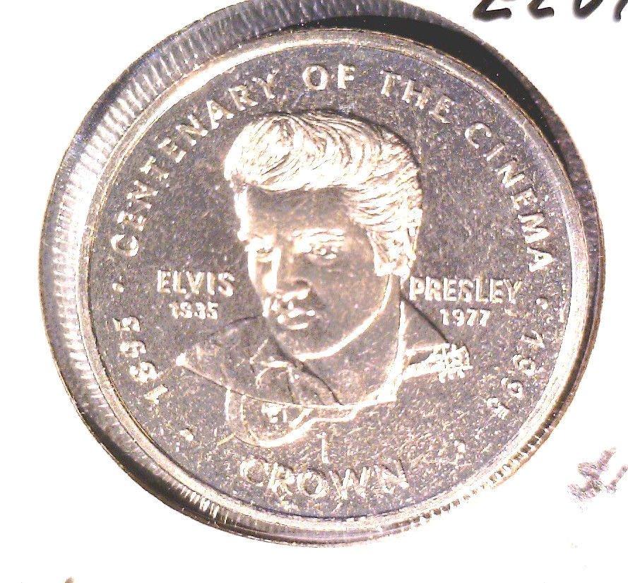 1996 Gibraltar Elvis Crown Coin     KM#465  BU