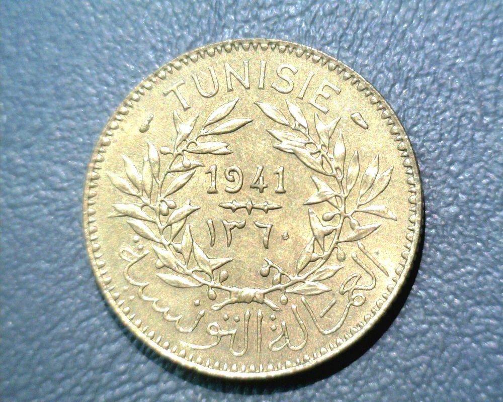 1941 Tunisia 2 francs KM#248  Tunisie Bon Pour 2 Fr.   AH 1360 Token Coinage