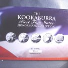 2 ounce Silver Kookaburra 1999 Honor Collection 1st Five US State Quarters .999