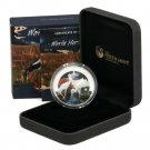 Stork Silver Proof $1 Coin 2013 Kakadu Park Australia .999 Ltd Ed of 2,500 Birds