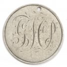 Love Token on a Seated Liberty Silver Dime -Engraved G H P  No Date - Holed