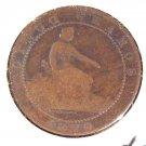 1870 OM Spain 5 centimos coin  KM#662