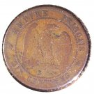 1856 BB France10 centimes coin    KM#771.2
