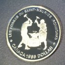 1988 Canada Proof Silver Dollar Saint Maurice Ironworks KM#161  Free US Shipping