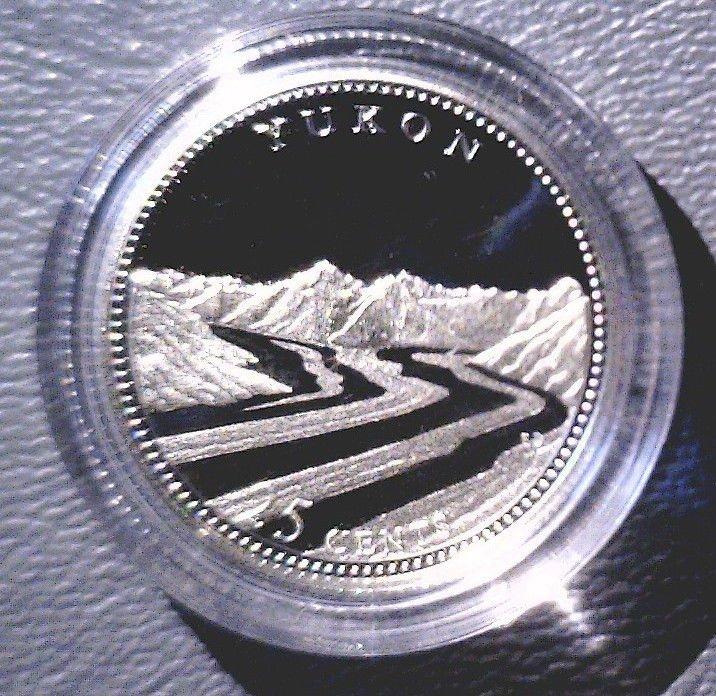 1992 Canada Commemorative Silver Proof 25 cent Coin .925 Silver  Yukon with COA