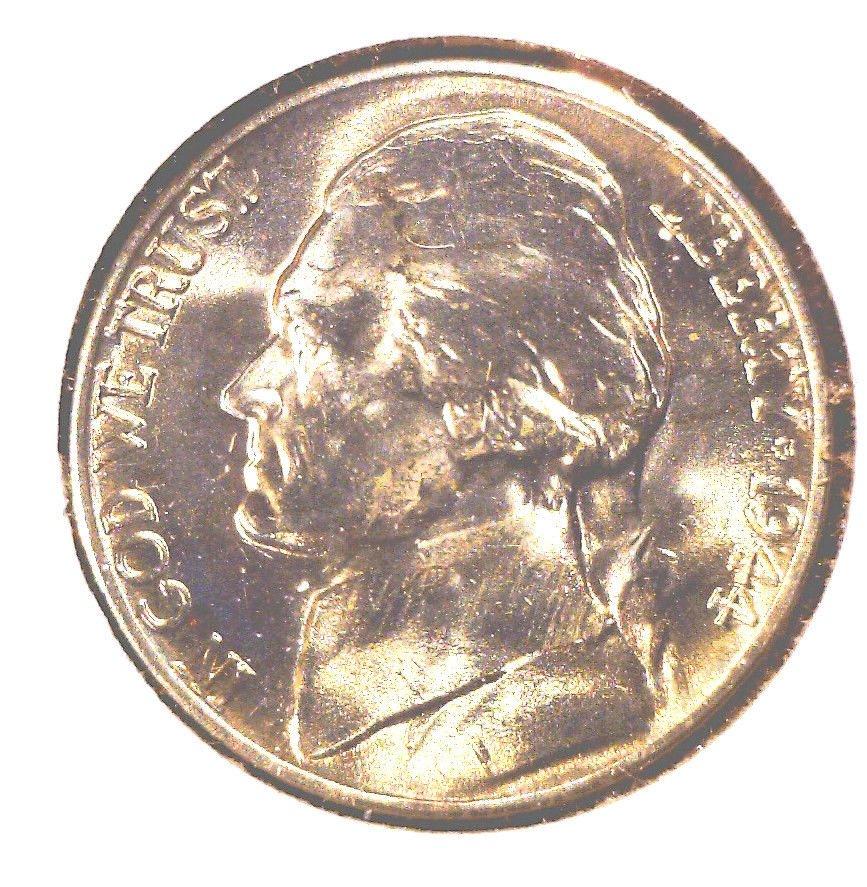 1944 D Jefferson Nickel GEM BU  Brilliant Uncirculated