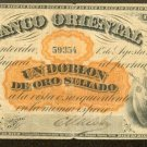1867 Uruguay   10 Pesos Note  Banco Oriental at Montevideo  Krause S-385