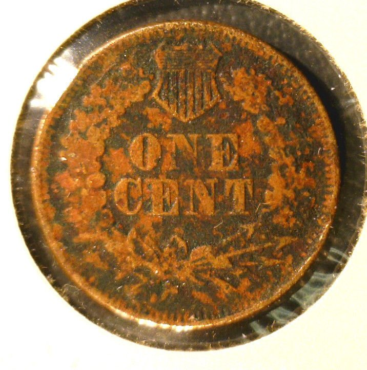 1865 ? Indian Head Cent Fair Condition   Unsure of Date Corrosion