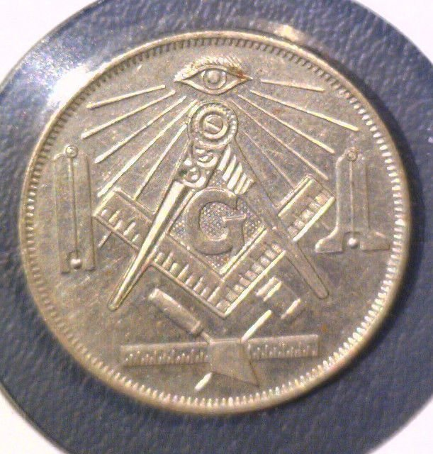 Masonic Engravable Token Mason Emblems with space for member and lodge info