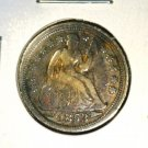 1853 US Seated Liberty Silver Dime 10 cents Very Good Condition