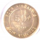 Ben Franklin Poor Richard's Coin Almanac Token Good for 50 cents in trade