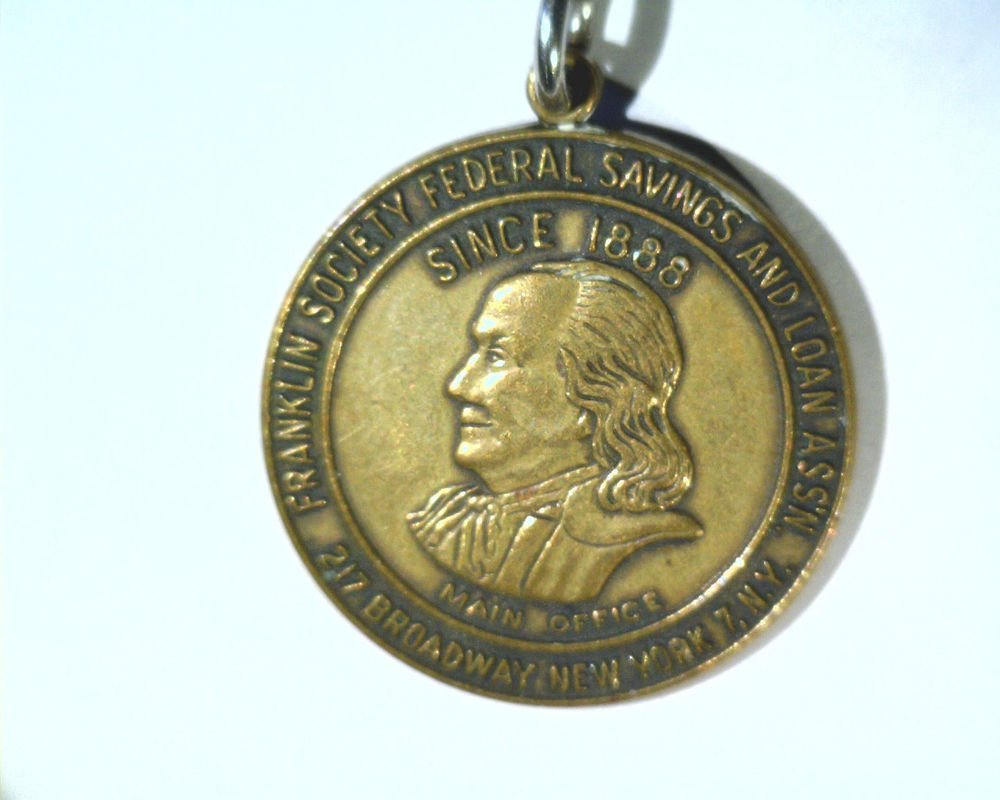 Key Tag Franklin Society Federal Savings and Loan New York  #21195