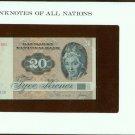 1979 Denmark 20 Kroner Note Pick#49a CRISP UNCIRCULATED ! In Sealed envelope