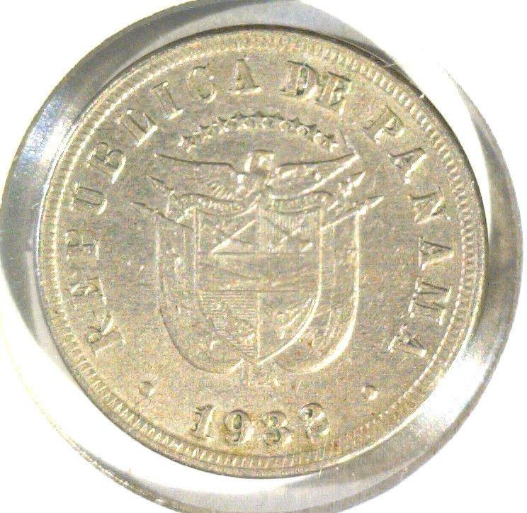 1932 Panama 5 centesimos coin KM#9 Extremely Fine XF