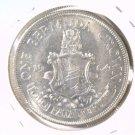 1964 Bermuda Silver Crown Coin KM#14  .3636 ASW  AU condition