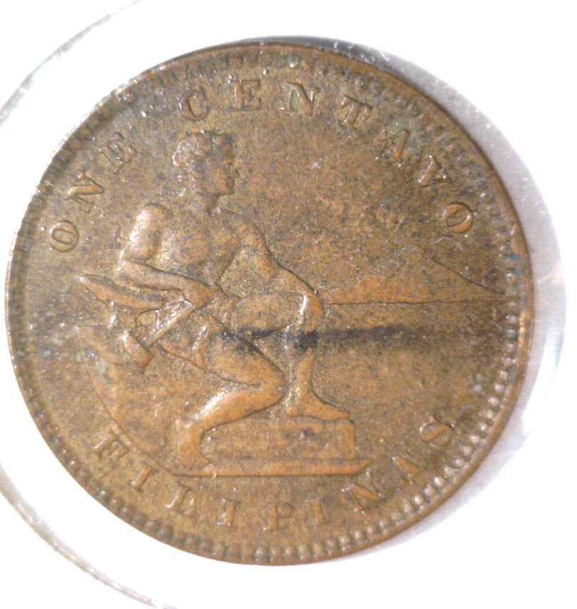 1904 Philippines Centavo Coin KM#163  US Colony Colonial Filipinas
