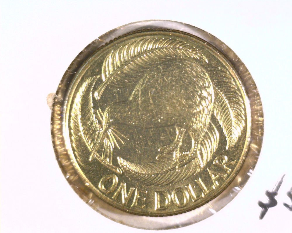 1990 New Zealand One Dollar Coin BU KM#78   Kiwi Bird